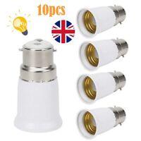 10x Bayonet BC B22 to ES E27 Socket  Edison ES Light Bulb Converter Lamp Adapter