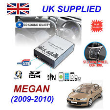 MEGANE 3 2009-10 MP3 SD USB CD AUX entrada adaptador de Audio Digital Módulo de cambiador de CD
