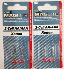 MAGLITE Mini Mag Flashlight Bulbs Xenon  For 2-Cell Flashlights (AA) Choose QTY
