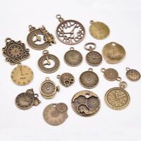 Zinc Charms Vintage Pendant Mixed Clock Pendant Steampunk Clock Jewelry Making