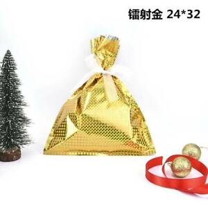 US 5Pcs Xmas Drawstring Christmas Favor Party Bags Gift Candy Empty Wrapping Bag