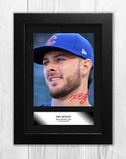 More details for kris bryant a4 signed mounted photograph picture poster choice of frame
