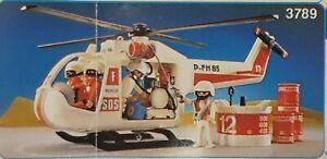 Playmobil 3789 helicoptere de secours / incendie / pompiers