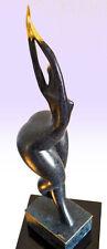 """Grande Bronzo atto """"Modern ART"""" Firmato Bronzo Figura Scultura in Bronzo Statua"""