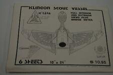 Star Trek Klingon Scout Vessel Blueprints