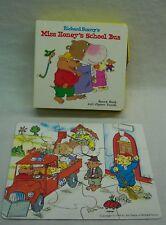 Richard Scarry's MISS HONEY'S SCHOOL BUS BOARD BOOK & PUZZLE SET 1999