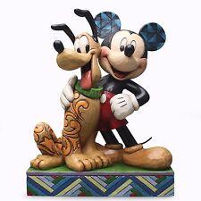 New JIM SHORE DISNEY Figurine MICKEY MOUSE PLUTO Statue Friends Dog Canine