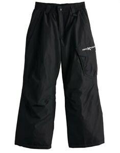 MSRP $60 Size medium 10/12 Zeroxposur Zero Exposure Black Snow Pants Kids Youth
