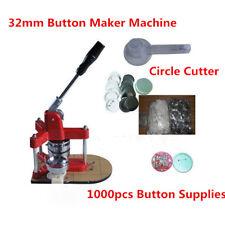 32mm Triangle Badge Press Button Maker 1000pcs Button Supplies 1pc Circle Cutter