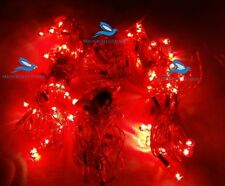Set of 10 Red Decoration Rice lights bulbs for Diwali Christmas-130 Ft