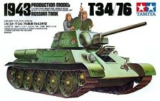 Tamiya T35059 1/35 Russian Tank T34/76 1943 Production Model Kit Armored Vehicle