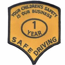 Safe School Bus Driver Award Patches - 1 Year