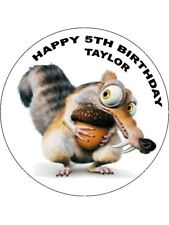 Âge de glace scrat 7.5 Round comestibles Icing Birthday Cake Topper