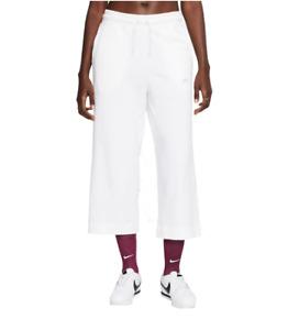 Nike Capri Pants Womens Small to 2XL Sportswear Jersey Cotton Loose Fit White
