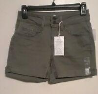 SO Junior Women's Jean Shorts Size 3 Green Midi