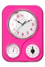 Premier Housewares 2200546 Horloge murale avec Minuteur et Température en Plas