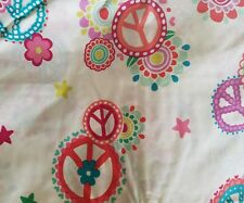 NEW POTTERY BARN  GROOVY PEACE 4  PIECE FULL SHEET SET