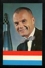 Space chrome postcard John Glenn Astronaut USMC