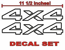4x4 Truck Bed Decals, BLACK (Set) for Dodge Ram or Dakota