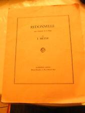 Partition Redonnelle pour Clarinette Sib et Piano J Meyer