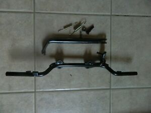 FOOTREST BAR WITH STAND BRACKET AND STAND ASSEMBLY IDEAL FOR UNIVERSAL BIKE MODS