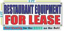 RESTAURANT EQUIPMENT FOR LEASE Banner Sign NEW Size Best Quality for The $