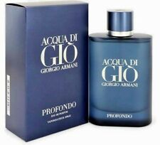 ACQUA DI GIO PROFONDO BY GIORGIO ARMANI EAU DE PARFUM 4.2 OZ / 125 ML MEN NIB