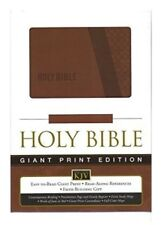 Thomas Nelson KJV Giant Print Holy Bible, Brown Leather Soft 2003, 12 Point Font