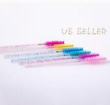 50PCS Eyelash Brush Disposable Mascara Wands Crystal Applicator Grafting Tools
