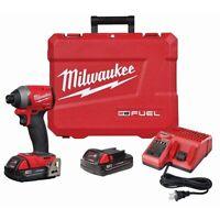 "Milwaukee 2853-22ct 18 Volt 1/4"" Hex Brushless Impact Driver Kit"