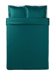 Ikea LUKTJASMIN Lyocell/Cotton Dark Green Double Duvet Cover Set 200x200cm New
