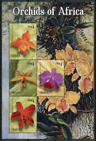 Ghana Flowers Stamps 2014 MNH Orchids of Africa Moth Boat Orchid 4v M/S II