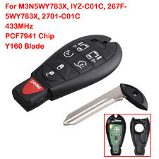 Replacement Remote Key For Dodge Y160 Fobik Key Fob Keyless Entry 433MHZ Control