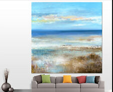 """YAKAI Hand-Painted Abstract oil Painting Modern Concise Art (1# No Frame 24x36"""")"""
