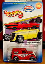 MATTEL HOT WHEELS 2000 ISCA ANGLIA PANEL TRUCK REAL RIDERS RED CLAMSHELL Z1-5