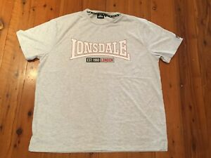 Lonsdale Mens Short Sleeve T-shirt Logo Box Tee Top Casual Sport Size 3XL to 7XL