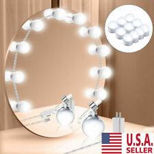 Hollywood Style LED Vanity Mirror Lights Kit for Makeup Dressing 10 Bulbs USA