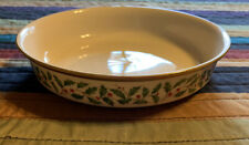 Vintage Lenox Holiday Holly Berry Consommé Soup Bowl Gold Rimmed