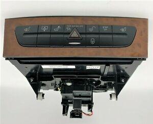 OEM 03-09 Mercedes-Benz W211 E350 Hazard Light Door Lock Control Switch Wood CD