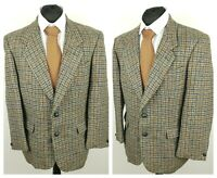 Harris Tweed Mens Vintage Blazer Jacket Chest 44'' Pure New Wool Check