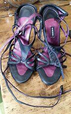 Diesel women's black sandals shoes high heels size 4