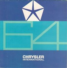 Chrysler Dodge Plymouth Imperial 1964 Export Market Foldout Brochure In Spanish