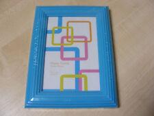 Azul 10.2cm x 15.2cm 4x6 Grueso ESTRIADO plástico marco para fotos con cristal -