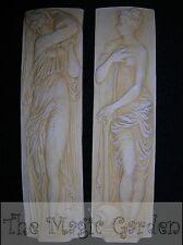 2 ancient Greek goddess wall plaques cement plaster concrete latex molds moulds