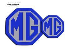 MG ZR LE500 MK2 Front & Rear Insert Badge Logo Set 59mm/95mm Blue/Silver