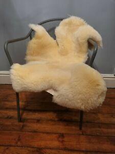 XXL Genuine 100cm British Cream Sheepskin Rug
