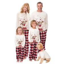 Family Matching Adult Kids Christmas Pajamas Nightwear Pajamas PJs Set Xmas