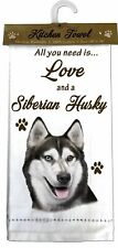 Siberian Husky Dog Cotton Kitchen Dish Towel