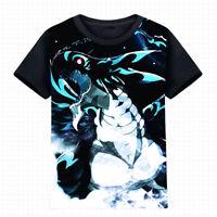 Anime Fairy Tail Acnologia Black T-shirt Cosplay Tee Short Sleeve Tops#K-A395