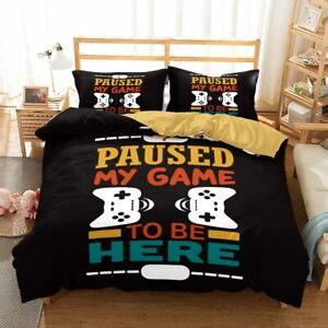 Gamer Game PlayStation Doona Duvet Cover Video Games Bedding Set Pillowcase